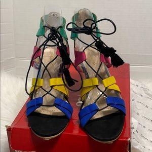 Andrea women sandal multicolor size 9.5